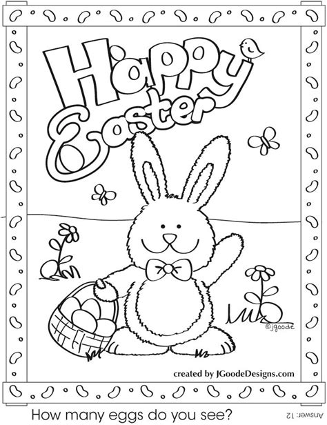 image detail for free printable easter bunny coloring