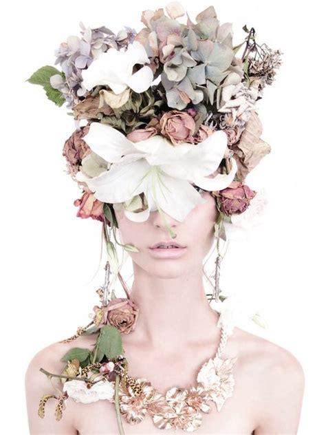 flower headdress inspiring fashion photography flower headdress and floral