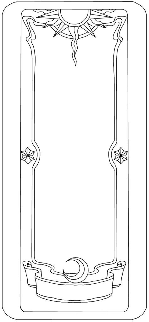 blank tarot card template ccs base clow card by sailorlunarangel on deviantart