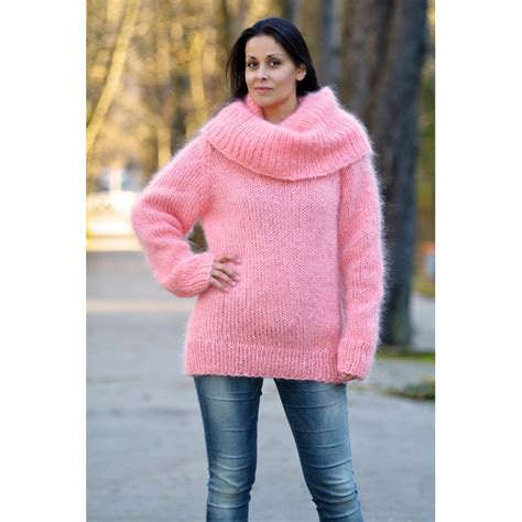 Light Pink Cowl Neck Sweater Sweater