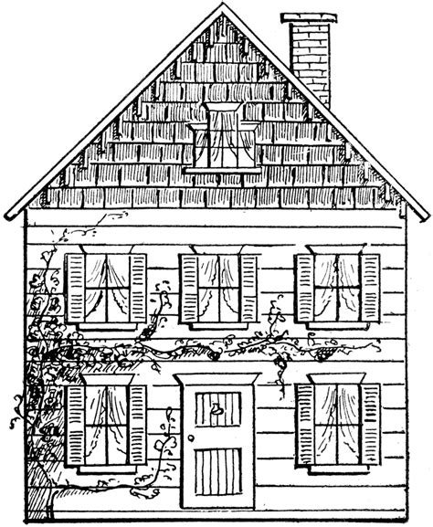 simple house drawing drawing a house 3 clipart etc