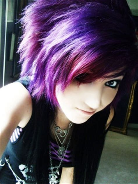 emo hairstyles and colors colors emo and a girl on pinterest