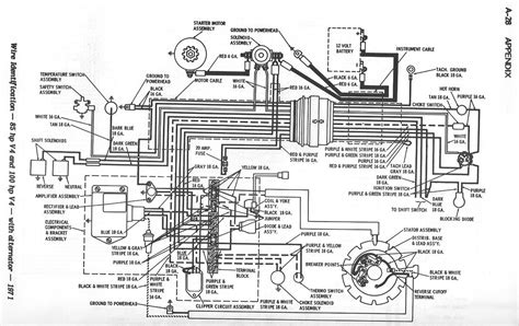 wiring diagram for 1971 mercury outboard motor circuit