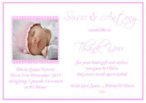 sweet prints personalised newborn baby thank you cards