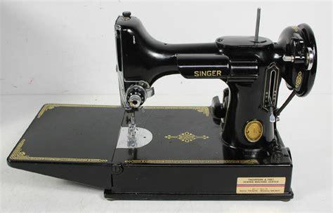 singer featherweight sewing machine vintage singer featherweight portable sewing machine with