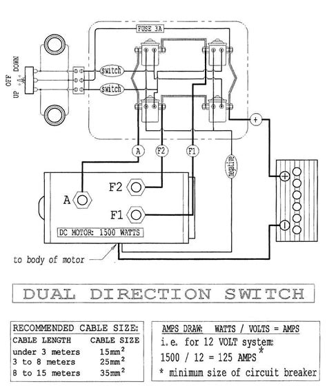 wiring diagram for warn atv winch warn winch 2500 diagram