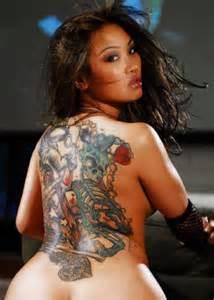 Back skull tattoo women sexy tattoo love