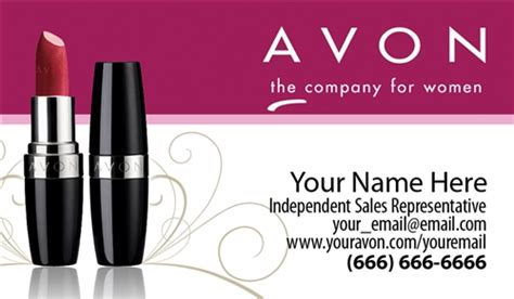 Avon Business Card Design 1 Avon Business Card Template