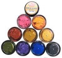inka gold metal gloss paint trial size and jars jars metals and colors
