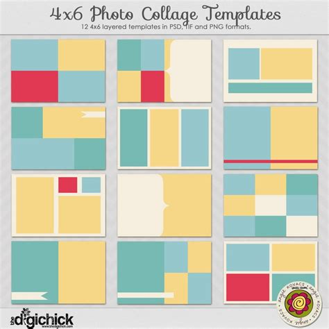 4x6 mini photoshop collage templates 4x6 collage templates studio design gallery best
