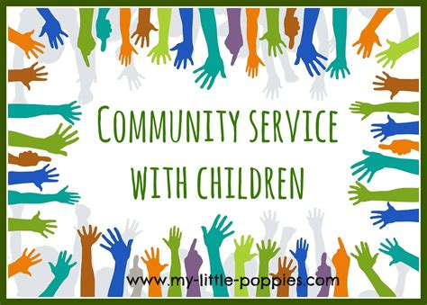 can i my to be a service community service with children my poppies