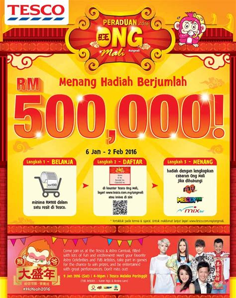 tesco malaysia new year promotion tesco ong mali cny special promotion hypermarket