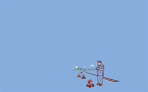 Hd Wallpapers Minimalistic Funny Threadless Simple Background Mario