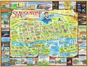 st augustine florida attractions map florida st augustine map postcard a photo on flickriver