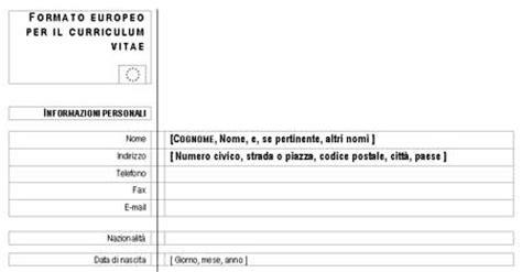 Formato Europeo Curriculum Vitae Da Compilare On Line Curriculum Vitae Pdf Da Compilare Order Essay