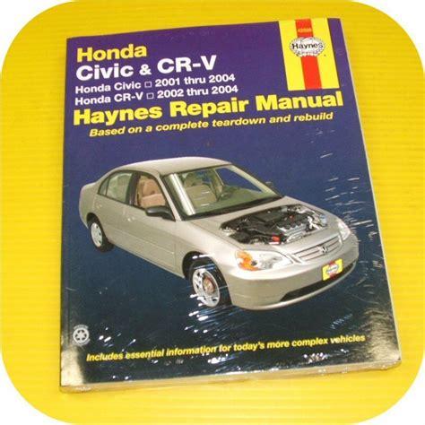 how to download repair manuals 2012 honda cr v engine control repair manual book honda civic 01 04 crv cr v owners ebay