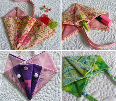 fabric paper bag pattern fabric origami bag patterns sew fun origami folded pockets