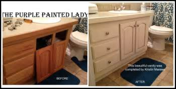 amazing Stripping Kitchen Cabinets #9: The-Purple-Painted-Lady-Vanity-Before-after-Chalk-Paint-PicMonkey-Collage.jpg