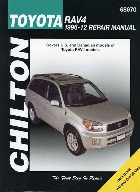 car manuals free online 1996 toyota rav4 interior lighting toyota rav4 repair shop manual 1996 2012 chilton 68670
