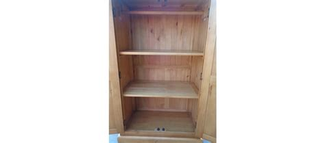 Pine Childrens Wardrobe by Pine Wardrobe Quercus Living