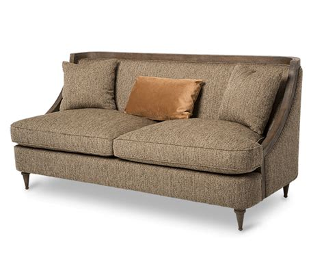 leather for upholstery prices wood trimmed sofa 8500 482 b schnadig furniture american
