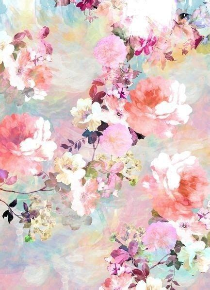 pastel flower pattern wallpaper romantic pink teal pastel chic floral pattern by girly