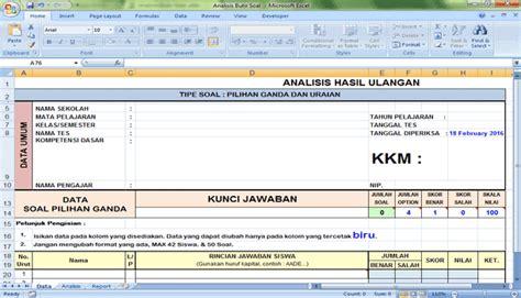 format analisis butir soal download aplikasi analisis butir soal format microsoft excel