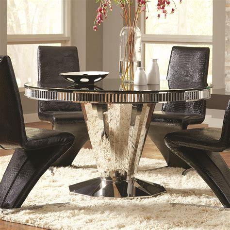 coaster glass dining table coaster barzini dining table with tempered black