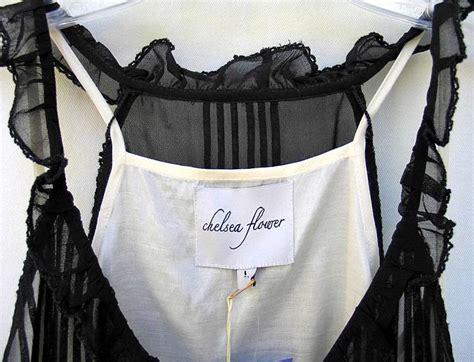 Ksp326 Kain Satin Kekuningan Uk 25 M X Lebar Kain T2709 chelsea flower black silk chiffon blouse top large nwt 265 00 ebay