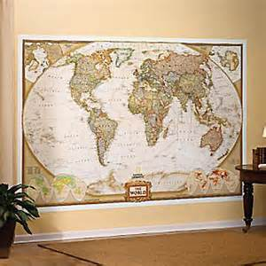 Wall Map Murals Map Wall Mural 2017 Grasscloth Wallpaper