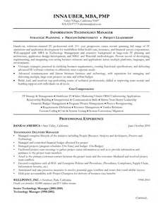 sle cio resume 28 director of information technology resume sle