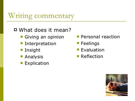 What Is Commentary In An Essay by What Is Commentary