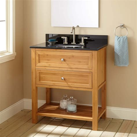 narrow depth taren bamboo vanity  undermount sink bathroom vanities bathroom