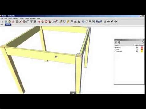 sketchup tutorial on layers sketchup tutorial how to using scenes and layers youtube