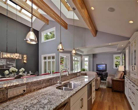 contemporary decoration vaulted ceiling kitchen lighting ideas skylight