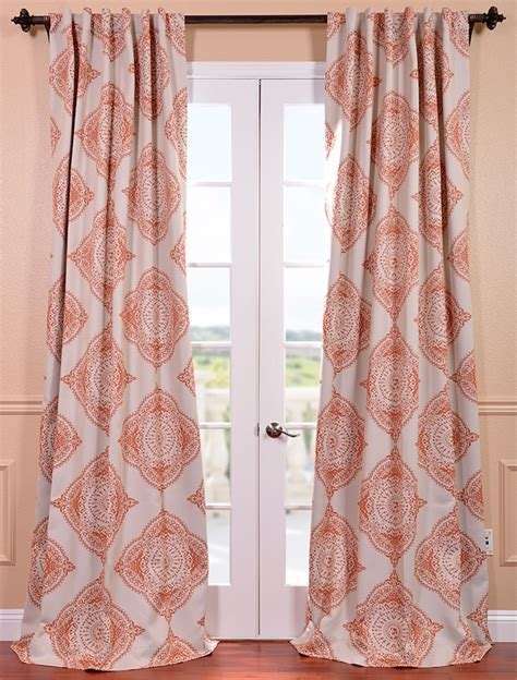 Patterned Drapery Panels Selection Of Blackout Curtains And Drapes