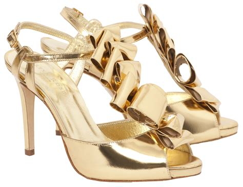 Gold Shoes by I Wedding Dress Gold Wedding Shoes