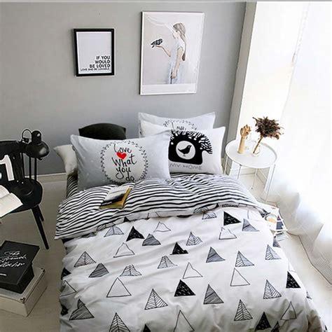 Black And White Single Duvet Sets Black Bedding Promotion Shop For Promotional Black