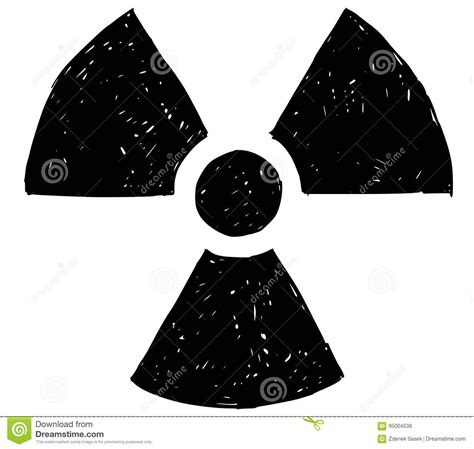 doodle radiation nuclear radiation symbol vector drawing doodle stock