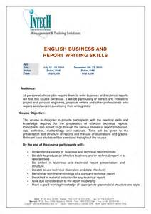 Report Writing Skills Sample Report Writing Skills Sample
