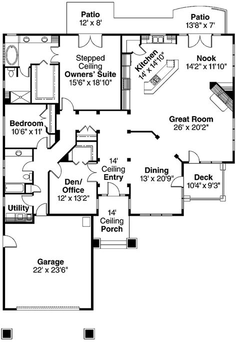 patio floor plan bedroom designs modern two bedroom house plans with patio