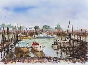 aquarelles paysages marines jard sur mer ports sables