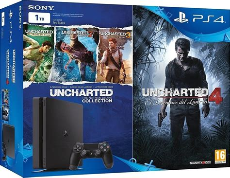 Sony Playstation 4 Ps4 Free Uncharted sony playstation 4 ps4 slim 1tb uncharted the nathan collection uncharted 4 a thief