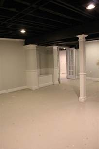 cost to paint a ceiling basement remodel with painted exposed ceiling