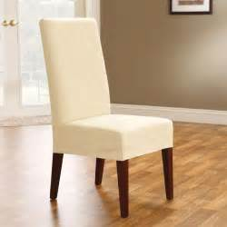 Dining Room Chair Covers sure fit chocolate chip stretch honeycomb short dining chair cover
