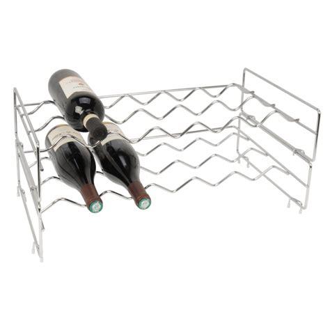chrome stackable wine rack  storage box