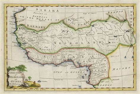 africa map 1747 west trade map book covers