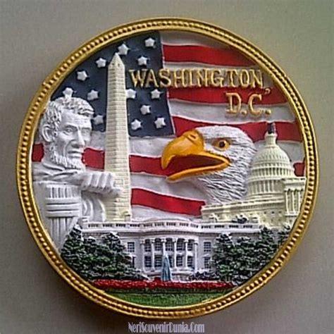 Souvenir Terbaru Asbak Pajangan Amerika jual souvenir magnet kulkas washington dc bulat amerika
