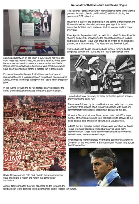 history of the football scarf savile rogue national