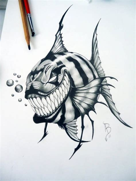 alan barbosa piranha by alanbarbosatattoo on deviantart